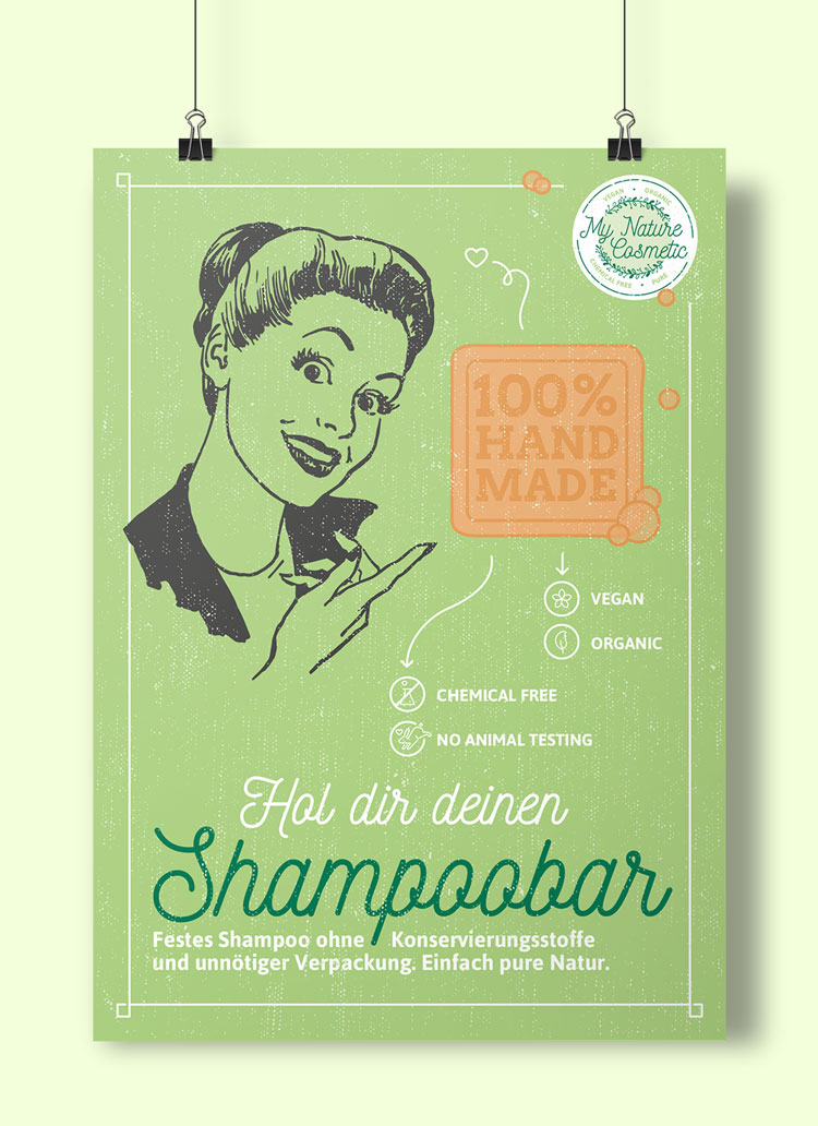 Poster für My Nature Cosmetic Shampoobar